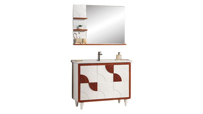 高端橡木实木浴室柜子组合 卫浴柜洗脸盆柜 洗手盆柜YP-8100-B 1100mm700mm900mm