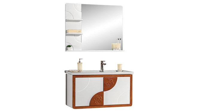 高端橡木实木浴室柜子组合 卫浴柜洗脸盆柜 洗手盆柜YP-8090-B 900mm700mm1100mm
