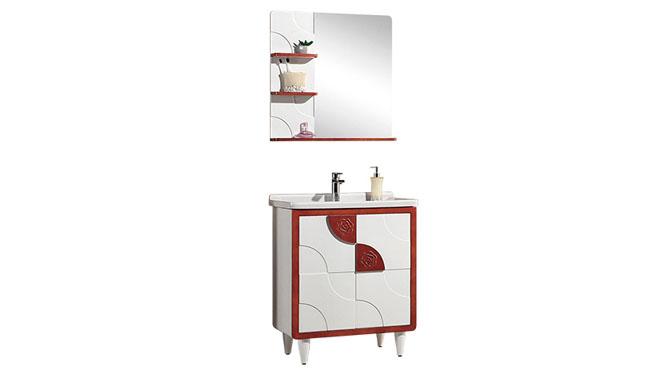 高端橡木实木浴室柜子组合 卫浴柜洗脸盆柜 洗手盆柜YP-8070-B 700mm900mm1100mm