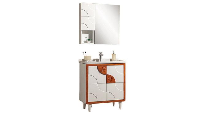 高端橡木实木浴室柜子组合 卫浴柜洗脸盆柜 洗手盆柜YP-8070-A 700mm900mm1100mm