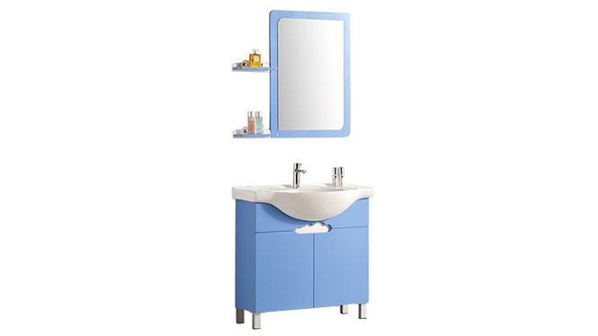 新款时尚实木洗脸盆洗手台浴室柜组合简约现代陶瓷盆卫浴柜YP-807-A 800mm
