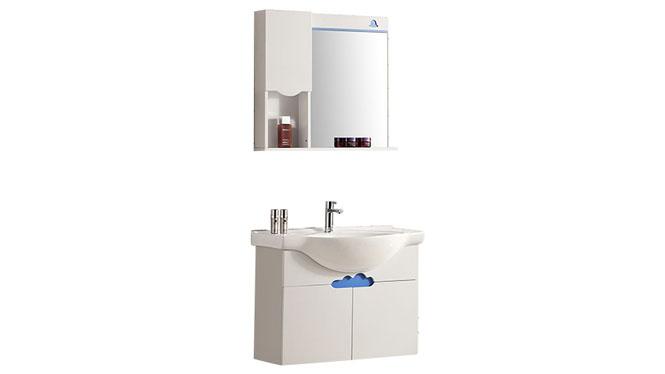 新款时尚实木洗脸盆洗手台浴室柜组合简约现代陶瓷盆卫浴柜YP-807-B 800mm