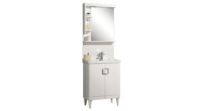 卫浴橡木现代浴室柜卫浴柜卫浴洁具洗脸盆带灯柜镜组合YP-1502 600mm