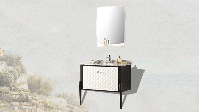 新款浴室柜组合洗脸盆柜 欧式时尚大理石台面组合YP-1511 945mm