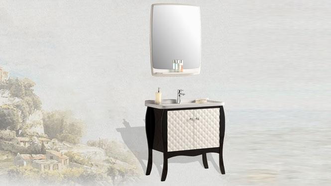 欧式简约小户型浴室柜组合 落地式卫生间洗手盆洗脸盆YP-1512 800mm