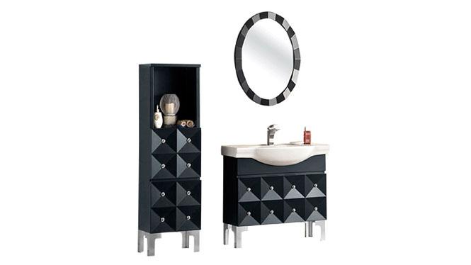 实木洗脸盆柜 后现代简约洗漱台 落地浴室柜收纳组合促销YP-60150 900mm770mm