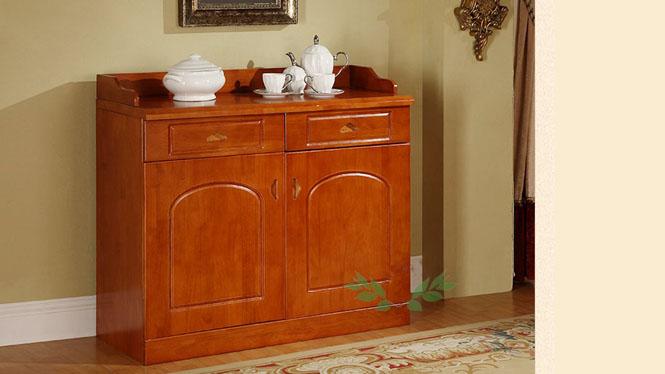 新款双门茶水柜 现代中式双门茶水柜 实木双门茶水柜813#