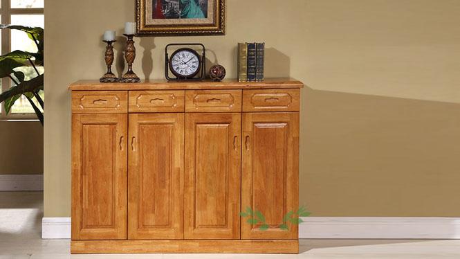 现代中式鞋柜 客厅实木鞋柜 优质实木鞋柜 四门鞋柜685#