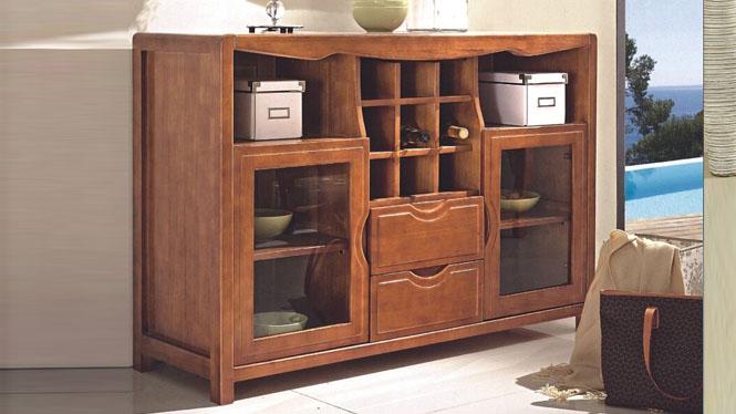 实木餐边柜 现代中式餐边柜 时尚现代中式厨房餐边柜1201#