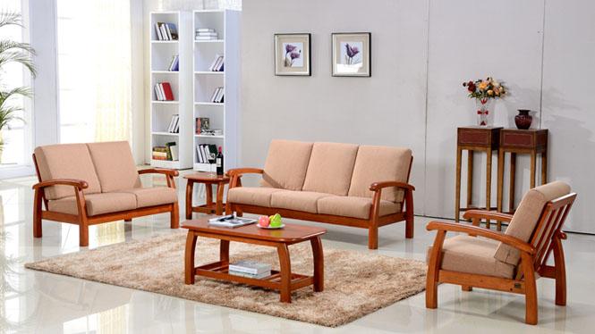 新款沙发 实木沙发 简约客厅沙发组合 优质实木沙发314#