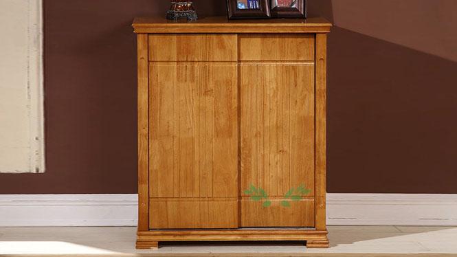 新款实木鞋柜 现代中式实木鞋柜 置地式实木鞋柜690#