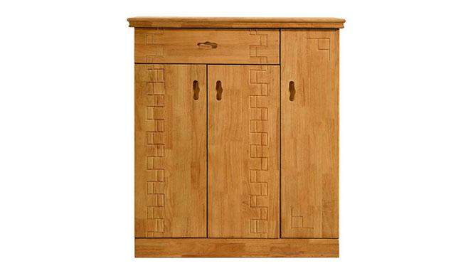 实木鞋柜 客厅家具实木鞋柜 现代优质鞋柜 三门实木鞋柜680#