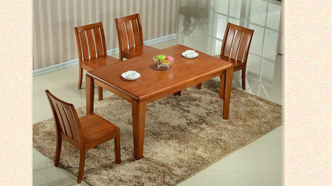 客厅餐台 现代中式家具餐台 现代方形实木餐桌 精致餐桌880#