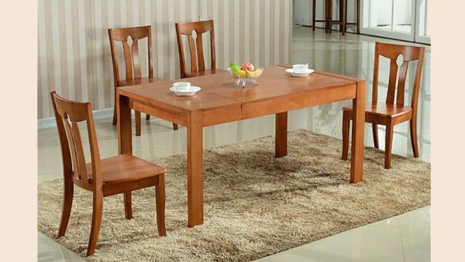 实木餐桌 现代中式优质餐台 客厅家具 客厅实木拉台860#