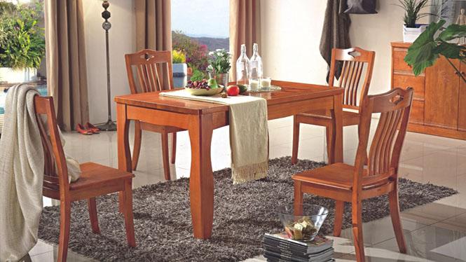 新款餐台 实木饭桌 现代中式长方形餐台 家用实木饭桌881#