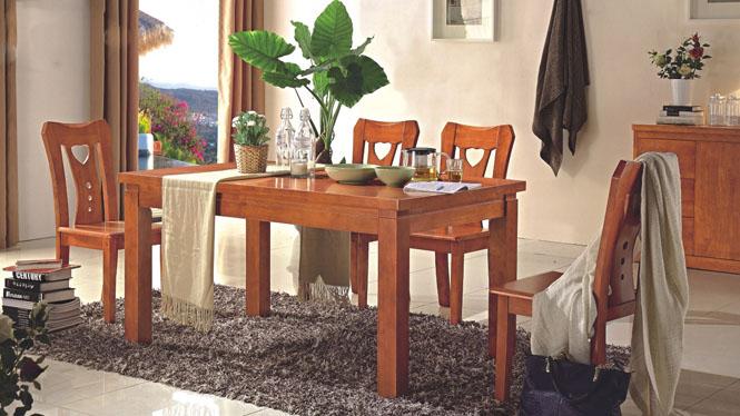 新款餐台 实木餐台 现代中式餐桌 客厅中式方形餐台891#