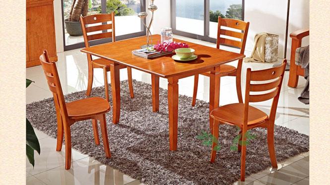 方形餐台 客厅实木拉台 现代简约餐台 餐厅实木餐桌862#