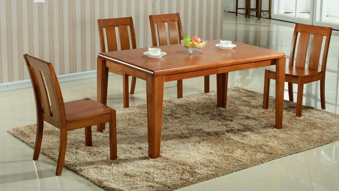 实木家居 客厅全实木餐厅餐桌 现代中式橡胶木餐台890#
