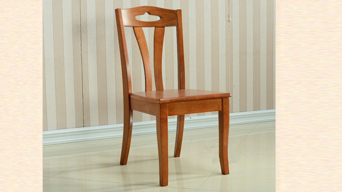 全实木优质餐椅 现代无扶手靠背实木餐椅 客厅餐椅971#