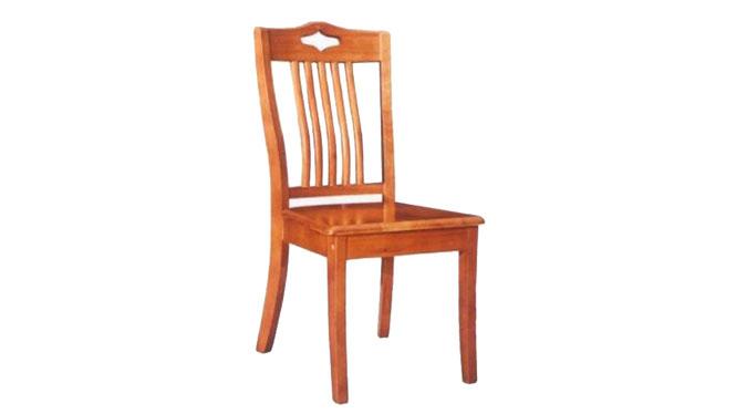 实木餐椅 现代全实木椅子 家用实木餐椅 无扶手靠背餐椅965#