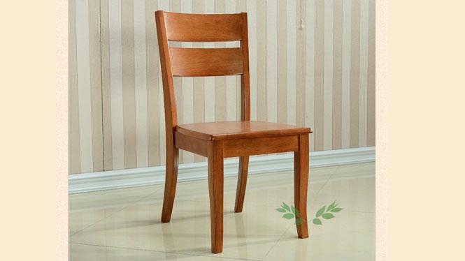 实木餐椅 餐厅靠背椅子 现代客厅橡胶木餐椅 家用餐椅977#