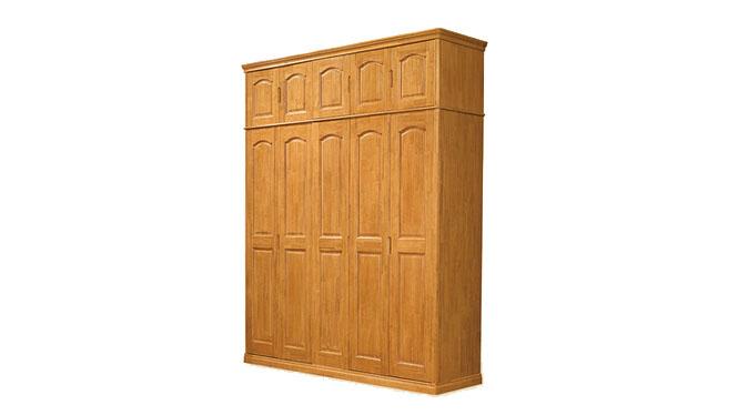 全实木衣柜 卧室套房整体衣柜 三四五六门衣柜808定制