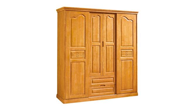 实木衣柜橱柜衣柜 实木 实木橱柜推拉衣柜四门更衣柜家具F15