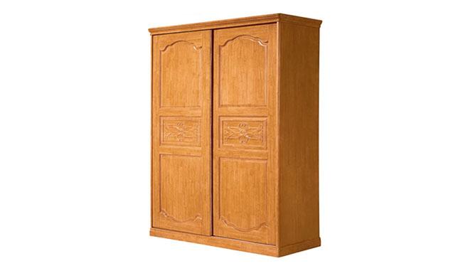 全实木衣柜 实用衣柜 卧室套房系列 二门推拉衣柜F18