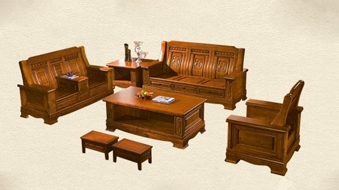 香樟木沙发123组合 全实木沙发茶几 纯实木客厅家具F882