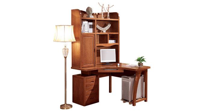 实木转角书台书组合儿童书台 胡桃实木家具S201