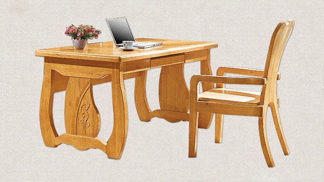 实木书桌实木办公书桌实木书椅家庭书房书桌书椅F601