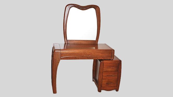 卧室家具批发 全实木胡桃木化妆台 卧室化妆桌椅组合T903