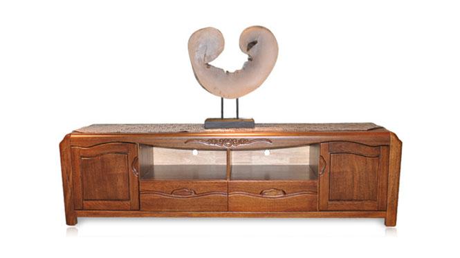室内家具 客厅电视柜 全实胡桃木视听柜电视机柜T503