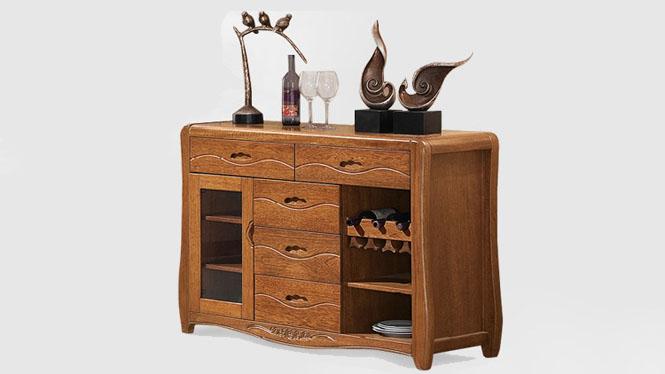 全实木胡桃木餐边柜 餐厅实木家具 餐台储物餐边柜T022