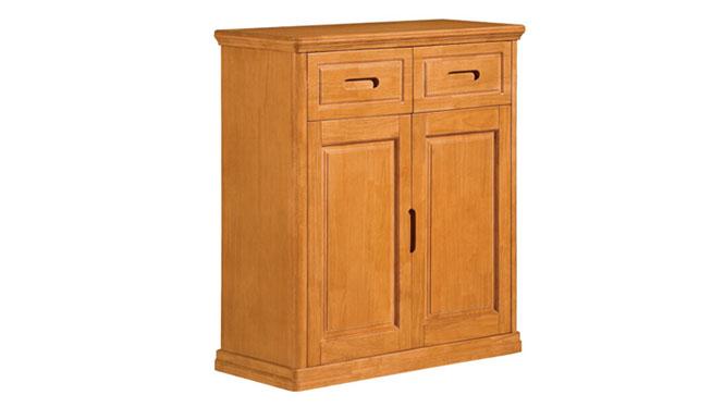 两门鞋柜 中式全实木家具 储物柜 中式收纳柜F502