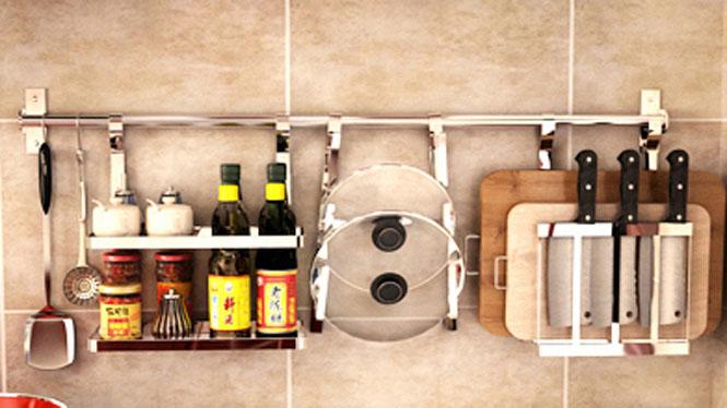 304不锈钢厨房置物架壁挂沥水架折叠碗碟架盘架筷子笼 套餐二