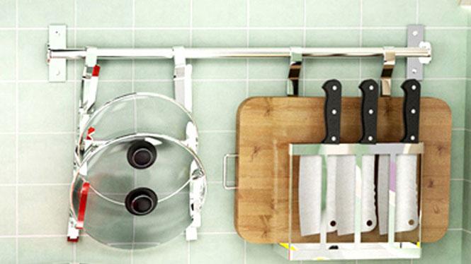 304不锈钢厨房置物架壁挂沥水架折叠碗碟架盘架筷子笼 套餐四