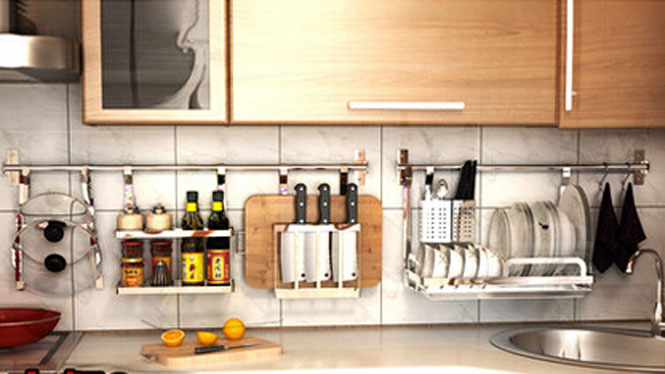 304不锈钢厨房置物架壁挂沥水架折叠碗碟架盘架筷子笼 套餐八