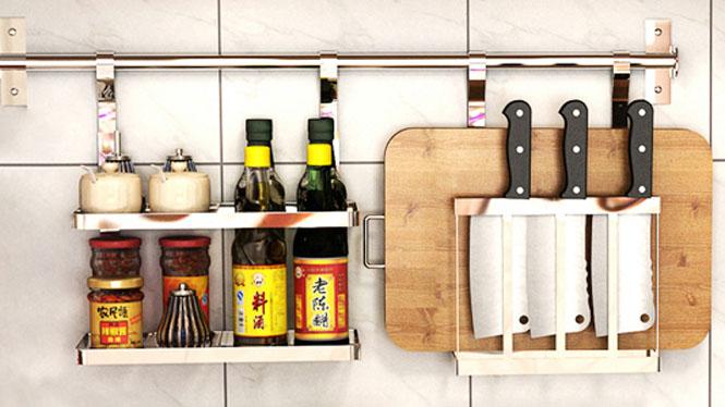 304不锈钢厨房置物架壁挂沥水架折叠碗碟架盘架筷子笼 套餐九