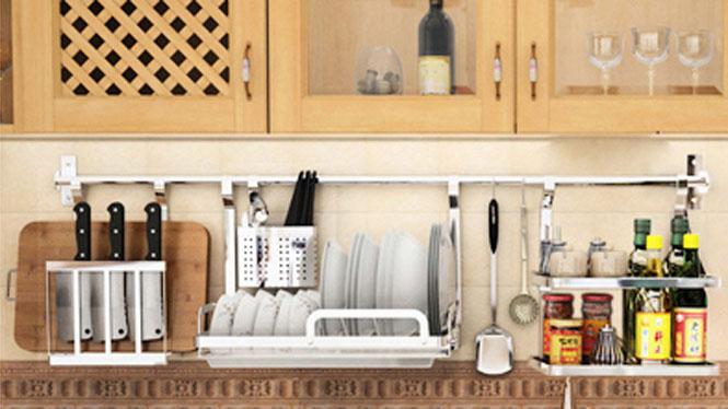 304不锈钢厨房置物架壁挂沥水架折叠碗碟架盘架筷子笼 套餐十一
