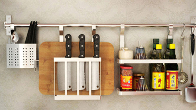 304不锈钢厨房置物架壁挂沥水架折叠碗碟架盘架筷子笼 套餐十三