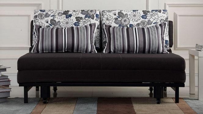 金属拖拉简约多功能可拆洗布套沙发床1米1.2米1.5米1.8米63#