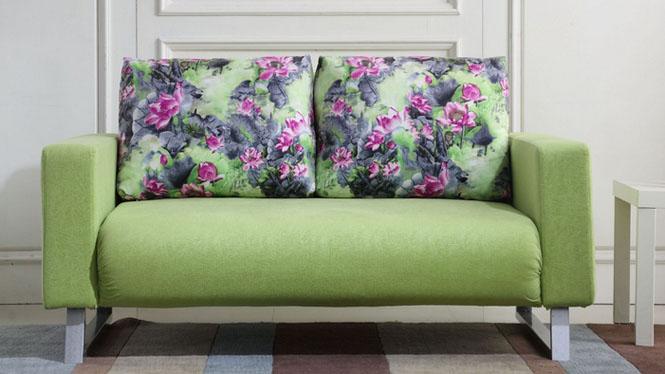 宜家田园小户型多功能现代简约折叠可拆洗布艺沙发沙发床1.5米1.8米67#