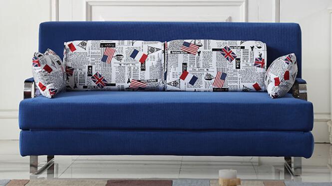 休闲布艺可拆洗折叠多功能沙发床1米1.2米1.5米1.8米61#