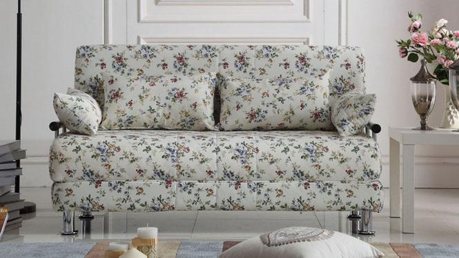 客厅懒人拆洗棉麻印花多功能折叠沙发床1米1.2米1.5米1.8米62#