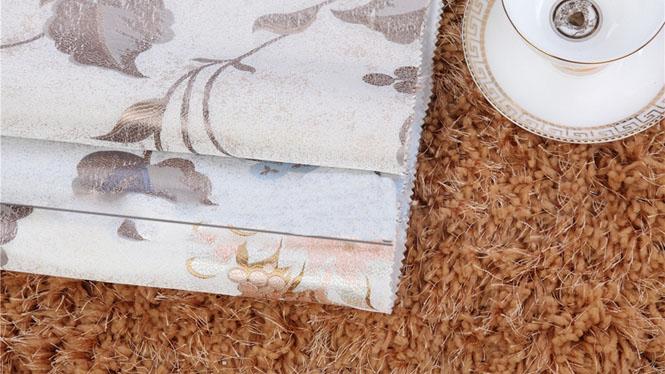 高档奢华欧式无缝墙布仿刺绣 客厅卧室无纺壁布 高精密提花FX-B