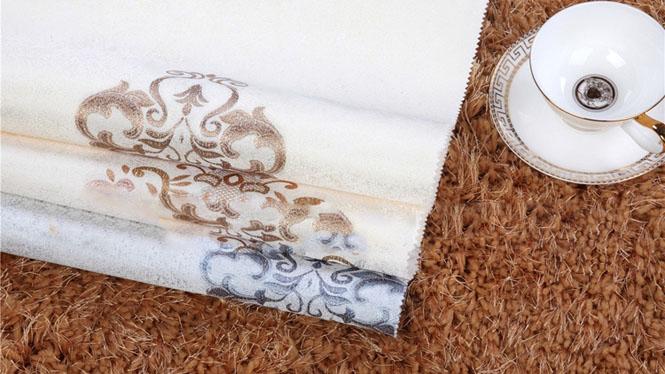 欧式仿刺绣高精密 高档无缝墙布 客厅卧室背景墙壁布FX-A