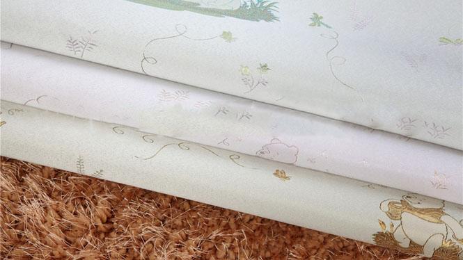 欧式无缝墙布 现代简约 卡通维尼熊儿童房 卧室壁布KT-C