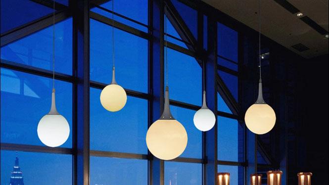 创意个性吊灯 圆球餐厅灯具楼梯灯长吊灯简约现代办公室艺术吊灯D48