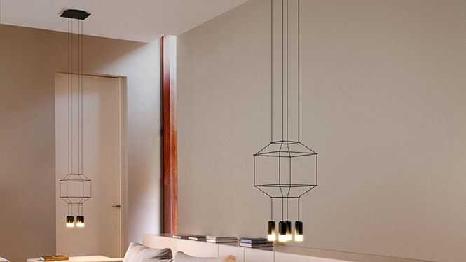 现代简约创意个性吊灯艺术餐厅客厅楼梯 led线条吊灯4头D30